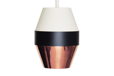 Pran Pendant Light 300 White, Black & Copper