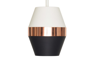 Pran Pendant Light 300 White, Copper & Black