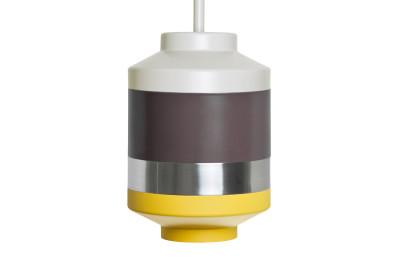 Pran Pendant Light 314 White, Dark Grey, SIlver & Yellow