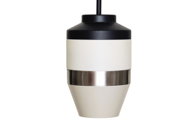 Pran Pendant Light 334 Black, White & Silver