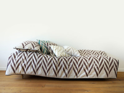 singe bedding set -brown