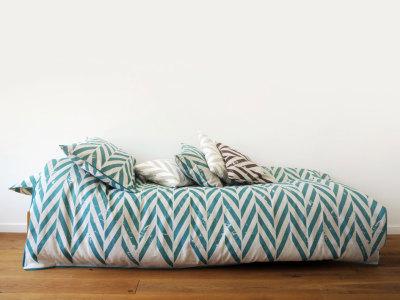 singe bedding set -aqua