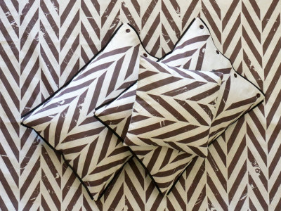 printed pillowcases - brown