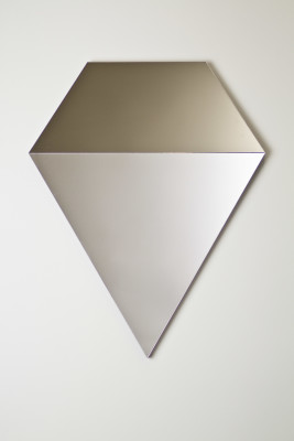 Prism Mirror in Silver and Bronze Bronze and Silver Prism