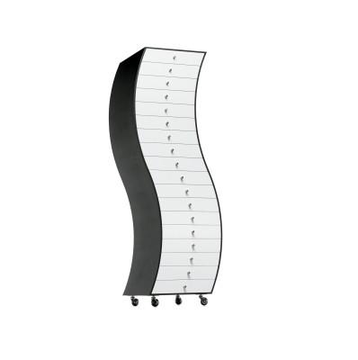 Progetti Compiuti Side 1 Curved Chest Of Drawers OP Matt Lacquer, 01 White