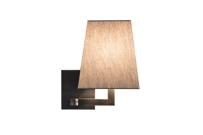 Quadra Joint Wall Light Satin Bronze, Coto White