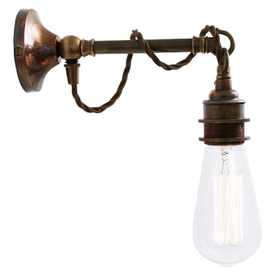 Rehau Industrial Wall Light Antique Brass