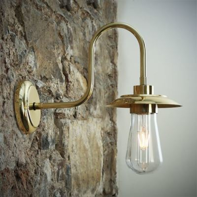 Ren Swan Neck Wall Light Polished Brass