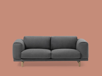 Rest 2 Seater Sofa Steetcut Trio 133, Oak