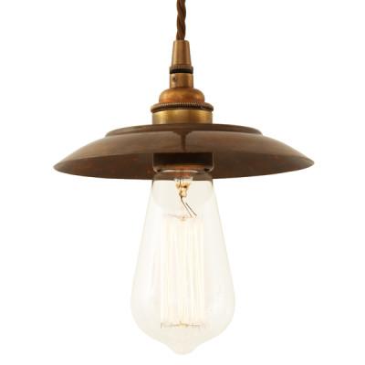 Reznor Industrial Pendant Light Antique Brass
