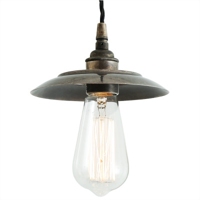 Reznor Industrial Pendant Light Antique Silver