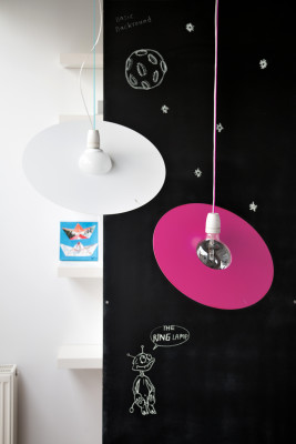 Ring Pendant Light Jet Black