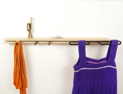 Robok Shelf 80cm Long, 3 Hooks and 1 Bow