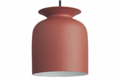 Ronde Pendant Light Gubi Metal Rusty Red, Ø20