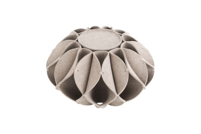 Ruff Pouf High Gray