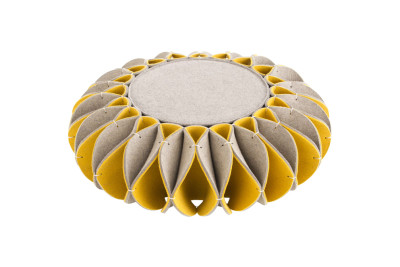 Ruff Pouf Low Yellow