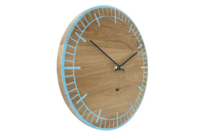 S2 Wall Clock Blue with Grey Hands