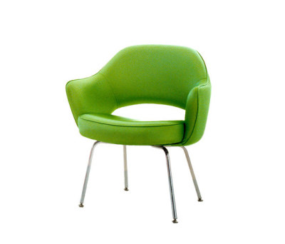 Saarinen Conference Chair 93H x 66.5W x 64D h 59SH cm Divina Fabric 956, Chrome Legs