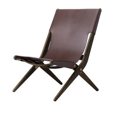 Saxe Chair Dark Oiled Oak / Brown Leather
