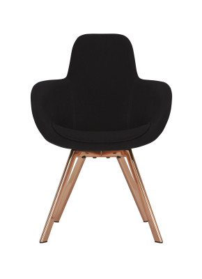 Scoop High Back Chair Brass, Hallingdal 65 980