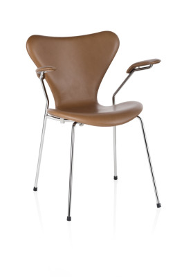 Series 7 Armchair - fully upholstered Elegance Leather Black Brown