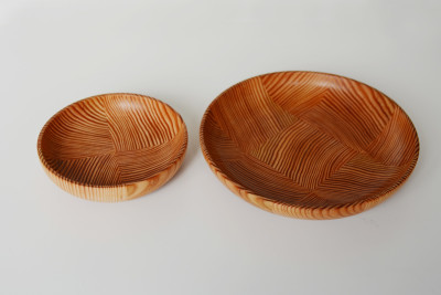 Set of Wooden Plates