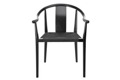 Shanghai Dining Chair Black With Black Paper Cord