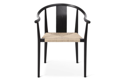 Shanghai Dining Chair Black with Natural Paper Cord