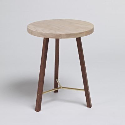 Side Table Two Ash & Walnut