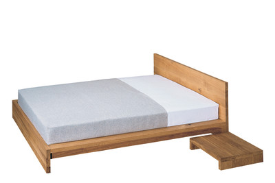 SL02 Mo Bed Oiled Oak, 70 cm Headboard, 140x200 cm