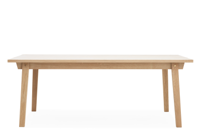 Slice Dining Table Vol.2 - Rectangular Oak and Grey, 84 x 100