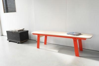 Slim Bench 01 Mid - Foxy Orange