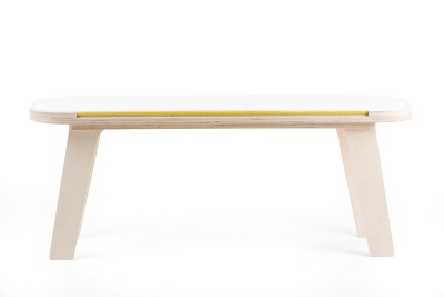 Slim Touch Bench White, Yellow, Grey