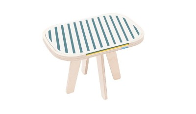 rfrom Slim Touch Side Table - Hard Top - Ocean Blue - Canary Yellow
