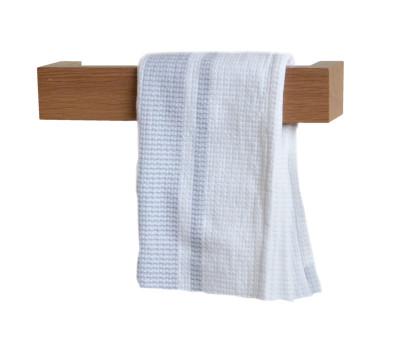 Slimline Towel Rail Wall Natural Oak, 28 cm