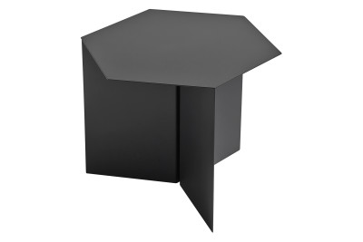Slit Hexagon Side Table Black