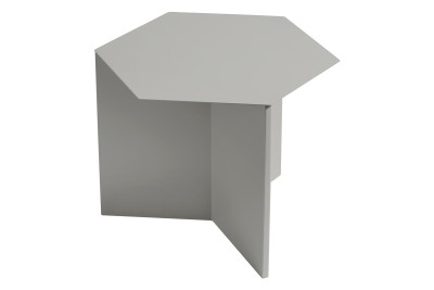 Slit Hexagon Side Table Grey
