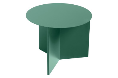 Slit Round Side Table Green, Ø45 cm