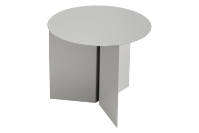 Slit Round Side Table Grey, Ø45 cm