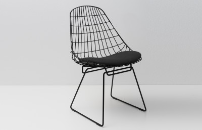SM05 Dining Chair with Cushion, Night Black Frame Tonus 4 615