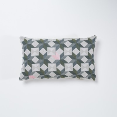 Small Stars Rectangular Cushion Green