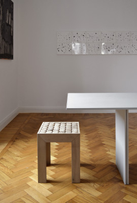Sofia Bedside Table/Stool Stool
