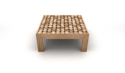 Sofia Coffee Table Wood feet small