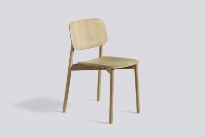 Soft Edge Dining Chair with Wood Frame Clear Lacquered Oak