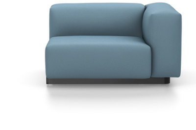 Soft Modular Sofa - Lateral Part Right Volo 51 ice blue