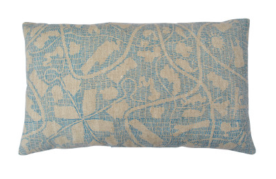 Sounds Around Long Cushion Blue