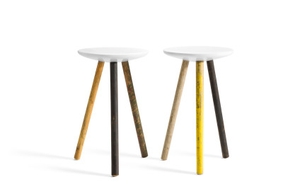 SPA stool reclaimed legs