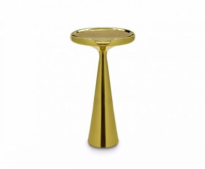 Spun Tall Table Brass