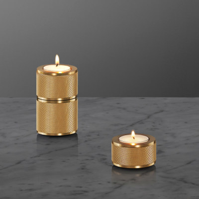 Stacked Candle Holder 3.0 Brass