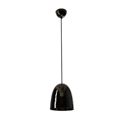Stanley Pendant Light Black Hammered Nickel, Small